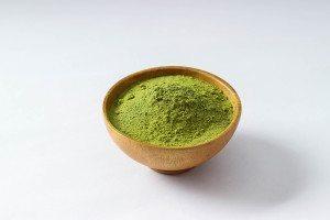 bowl of Green Tea powder