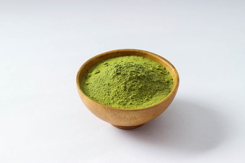 bowl of Green Tea powder