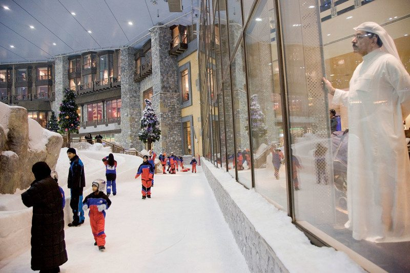 Dubai in snow