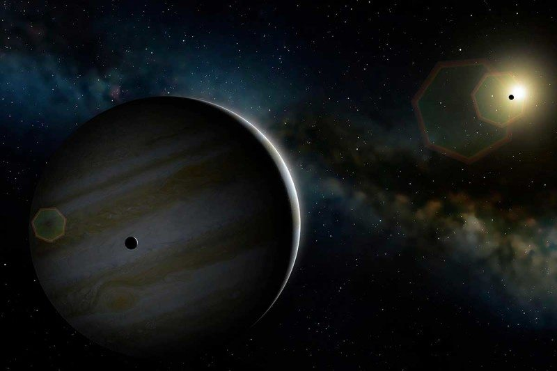 A gas giant like our solar system's Jupiter is just 12 light years away