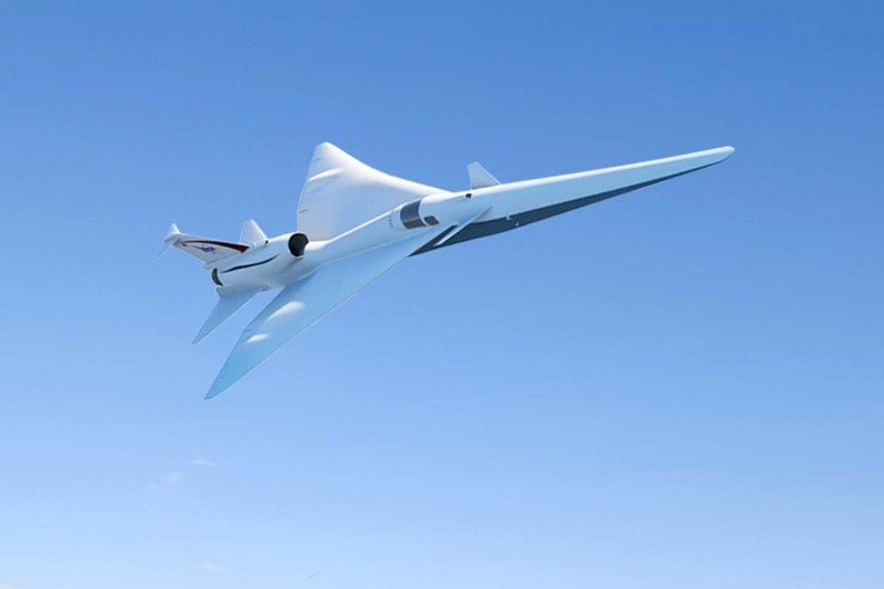 An artist's impression of a Lockheed-NASA supersonic jet
