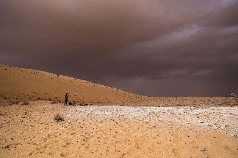 The Al Wusta site in Saudi Arabia where the finger bone was found
