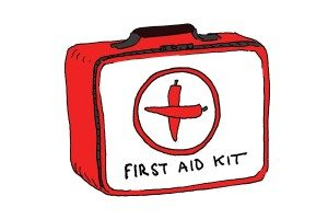 first aid cartoon