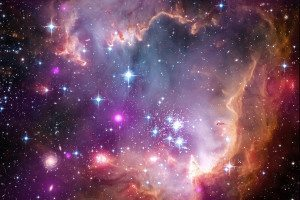 "The tip of the ""wing"" of the Small Magellanic Cloud galaxy"