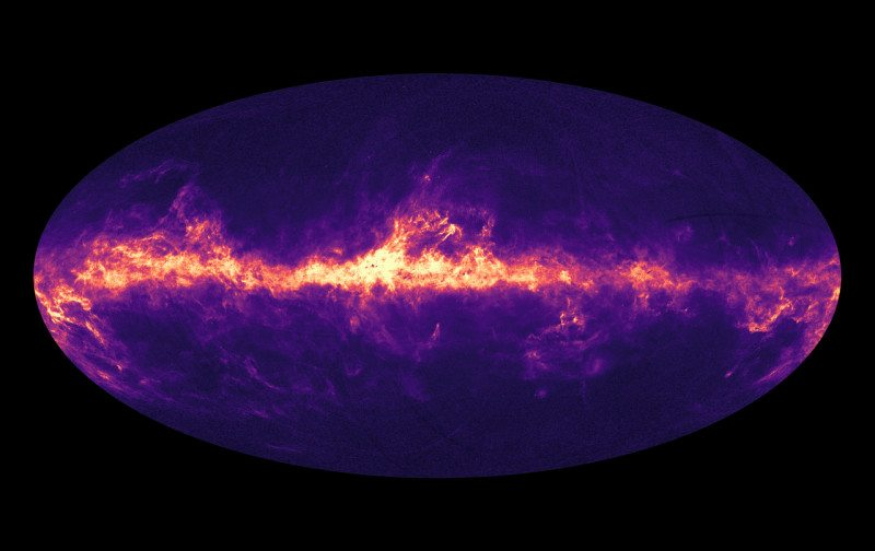 Gaia measured the dimming and reddening of 87 million stars to construct this image