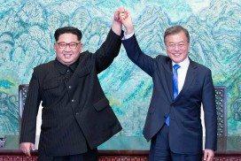 Kim Jong-un and Moon Jae-in