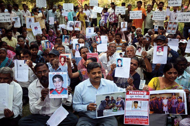 Group showing Missing Children in Delhi