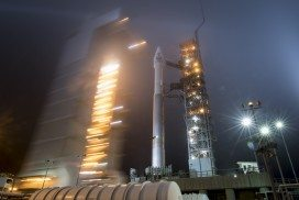 The NASA InSight spacecraft on the launch pad