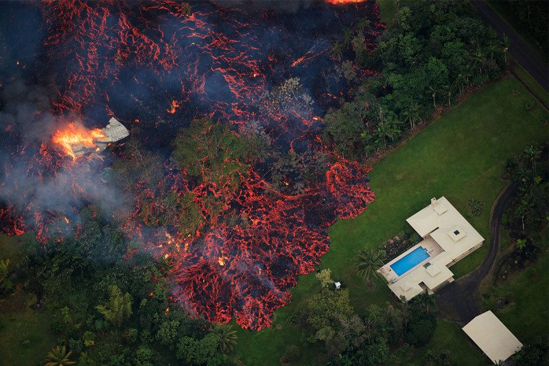Lava Destroys Dozens of Homes in Hawaii