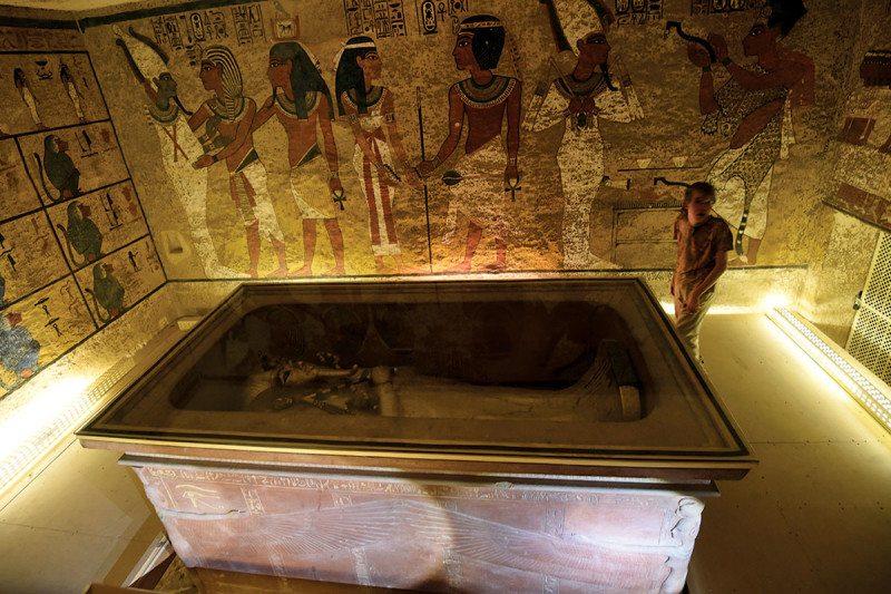 Tutankhamun's burial chamber