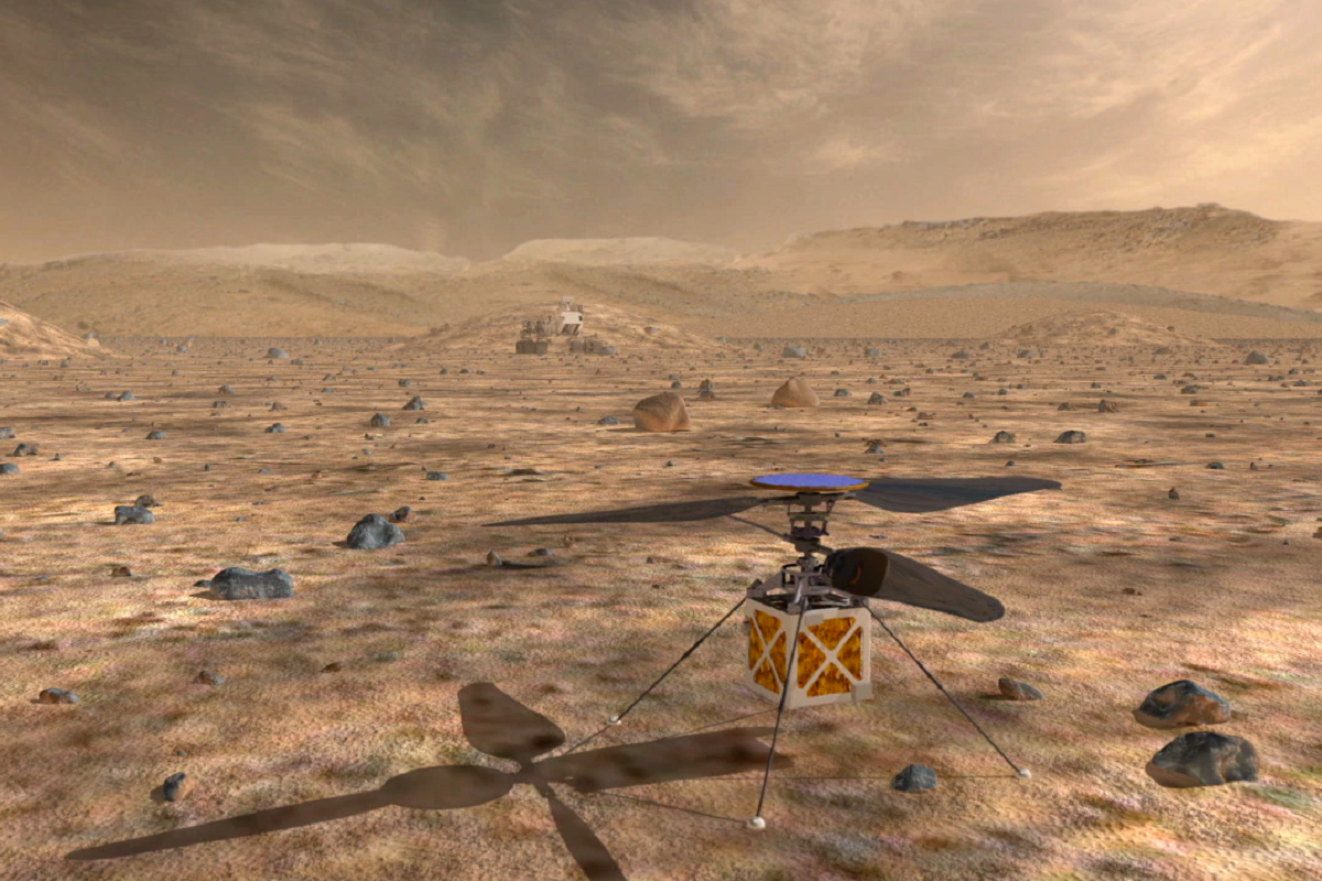 The MarsCopter will take flight on the Red Planet in 2020