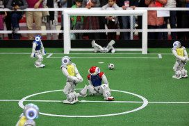 Robot footballers are famously bad - but they could improve if they follow what toddlers do