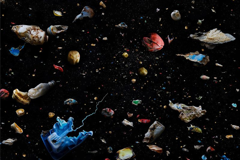 Salvaged plastics imitate bizarre and beautiful sea life