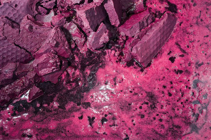 Grape marc is the stems and skins of the fruit that is filtered out during winemaking