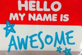 A name tag
