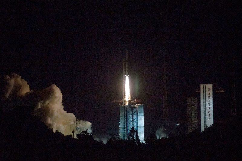 A Long March-4C rocket carrying a relay satellite, named Queqiao (Magpie Bridge), launched on 21 May