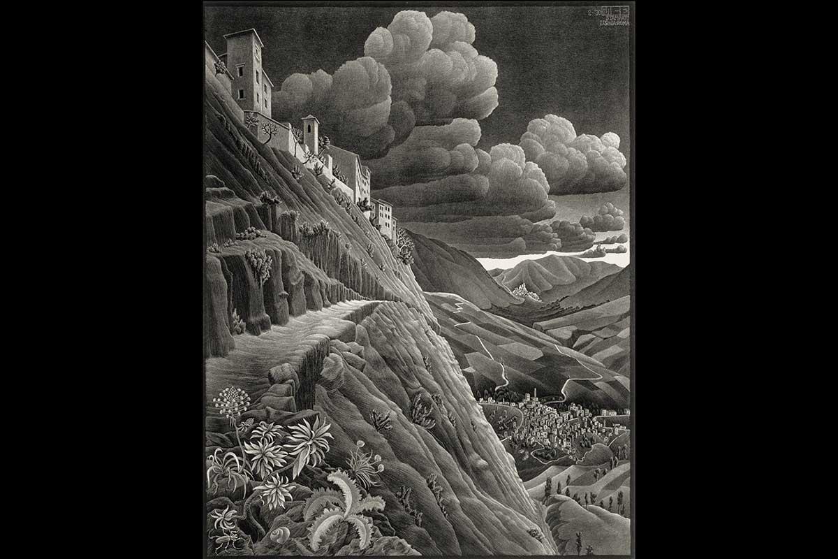 Castrovalva-(1930),-M.C.-Escher-∏-the-M.C.-Escher-Company-B.V.-All-rights-reserved.-www.mcescher.com