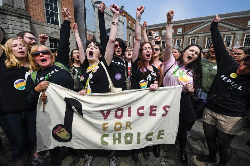 """campaigners """"Voices for choice"""""""