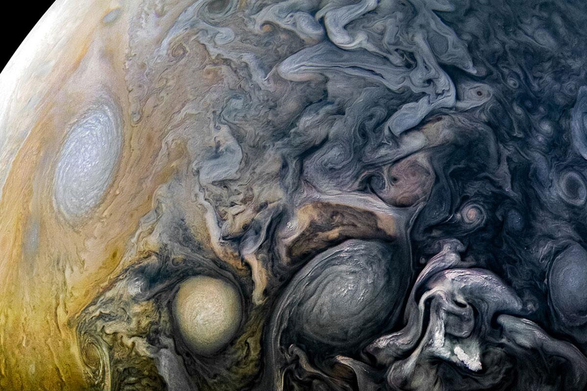 Jupiter's swirling storms are full of lightning