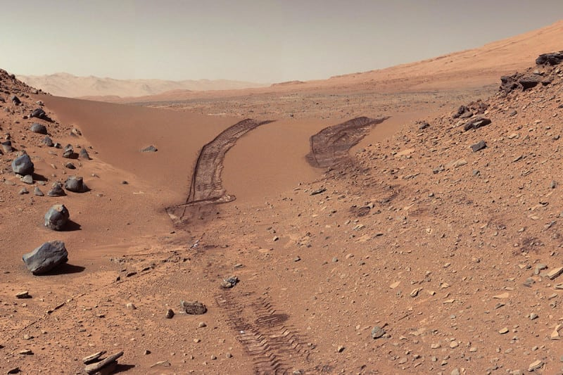 The Curiosity rover has collected samples from Gale Crater that contain complex organic material