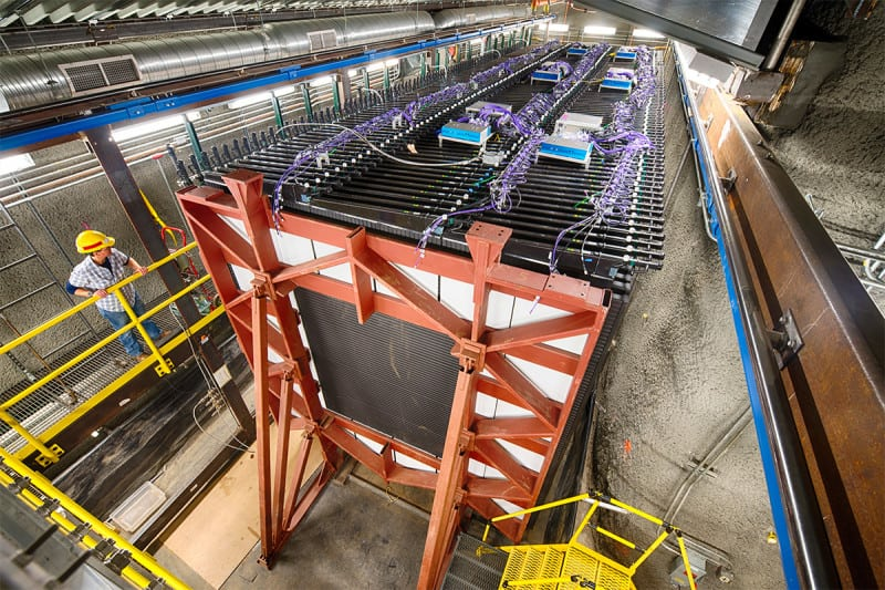 The 300-tonne NOvA neutrino detector at Fermilab