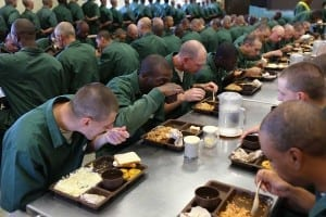 Prisoners eating