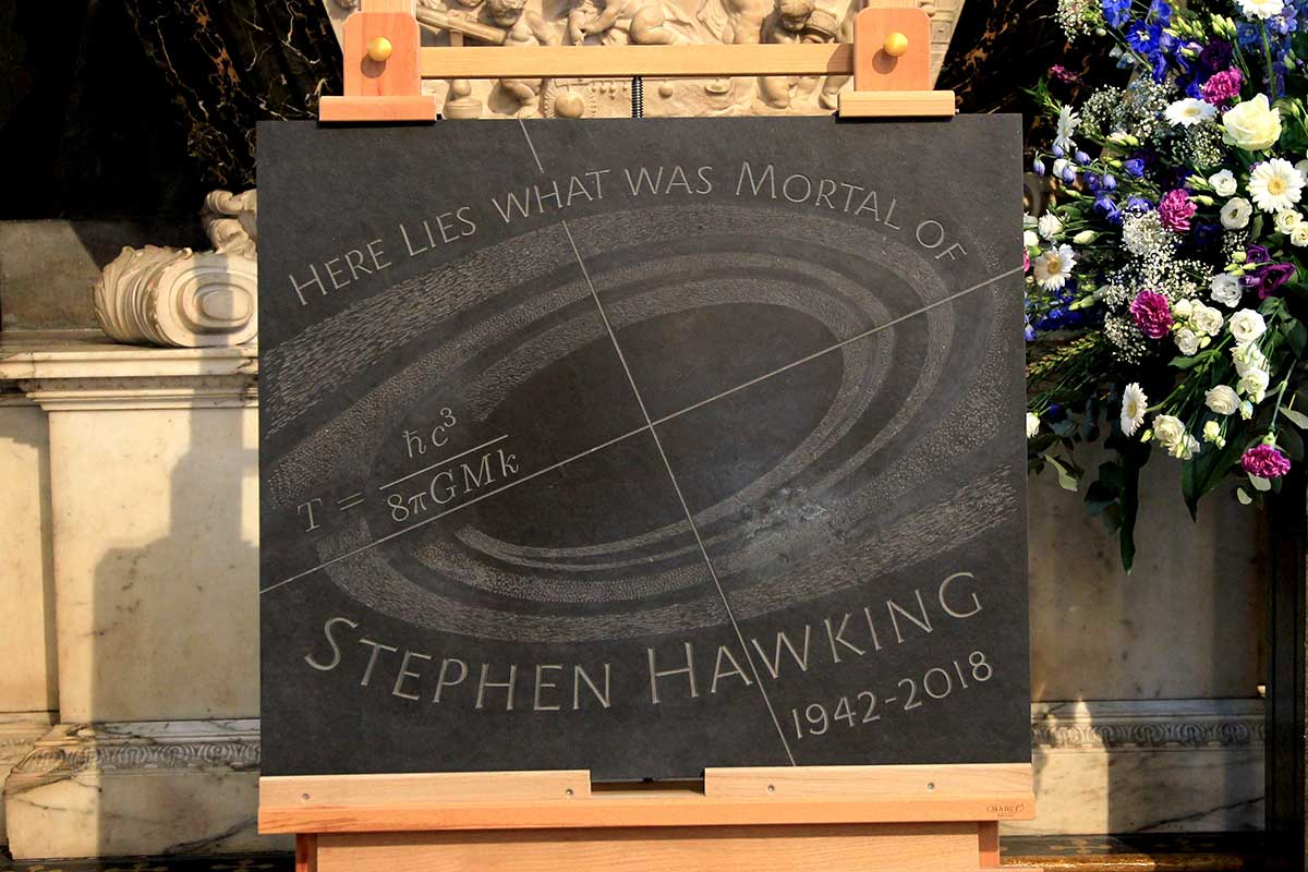 Hawking's headstone