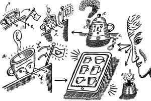 tea making cartoon
