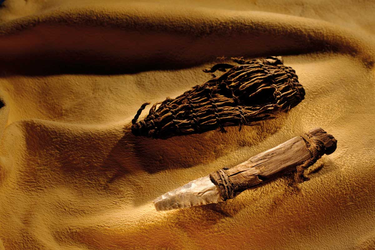 Ötzi the Iceman ran out of rock to make his tools before he died