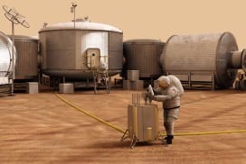 Artist's impression of a NASA habitat