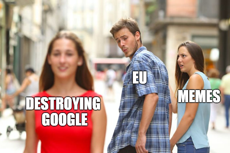 A distracted boyfriend meme