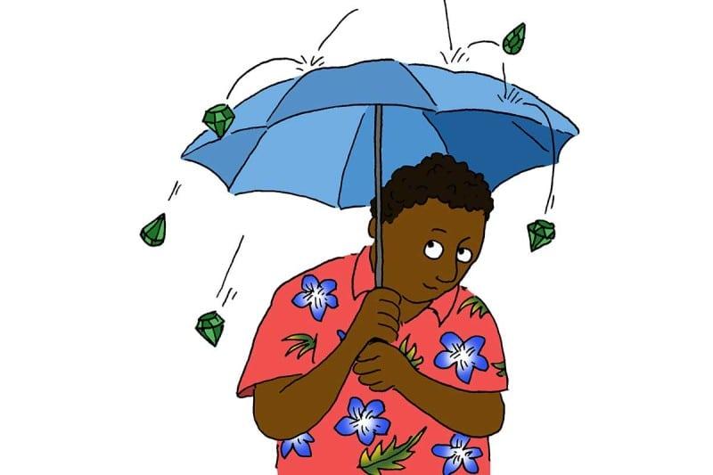 raining gems cartoon