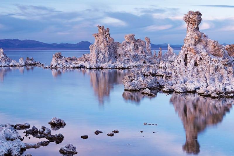 Rocks in lake
