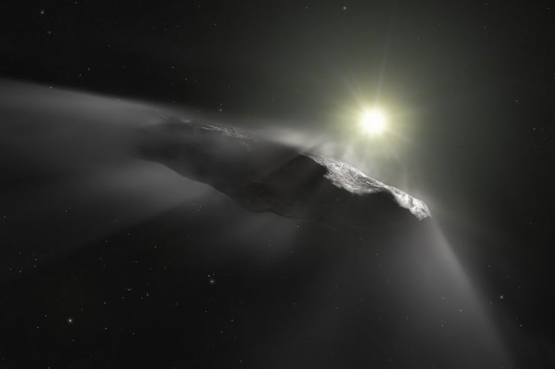 An artist's impression of the object as a comet