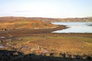 A salt marsh at Arisaig, west Scotland, one of many that are at risk