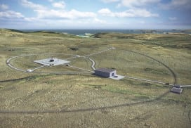 An artist's impression of the Sutherland spaceport