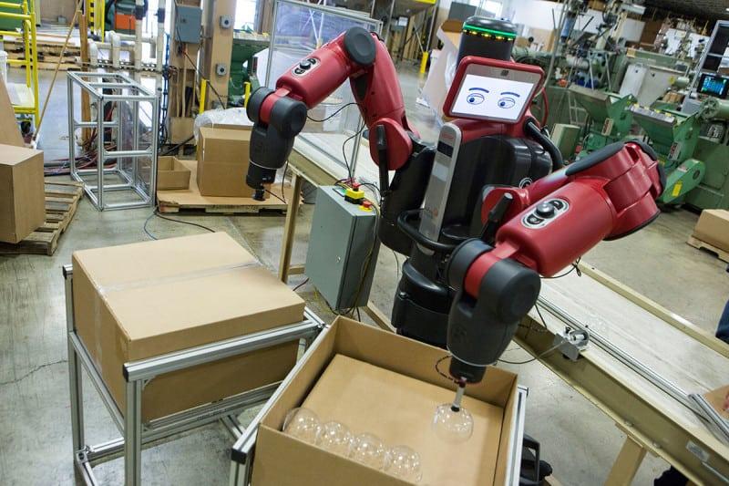 Robot packing glasses