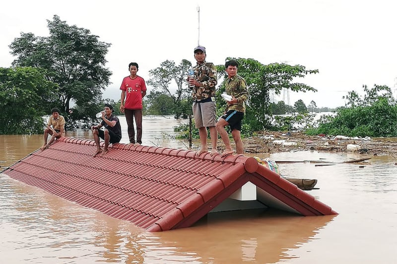 Thousands of people have lost their homes after the dam collapsed