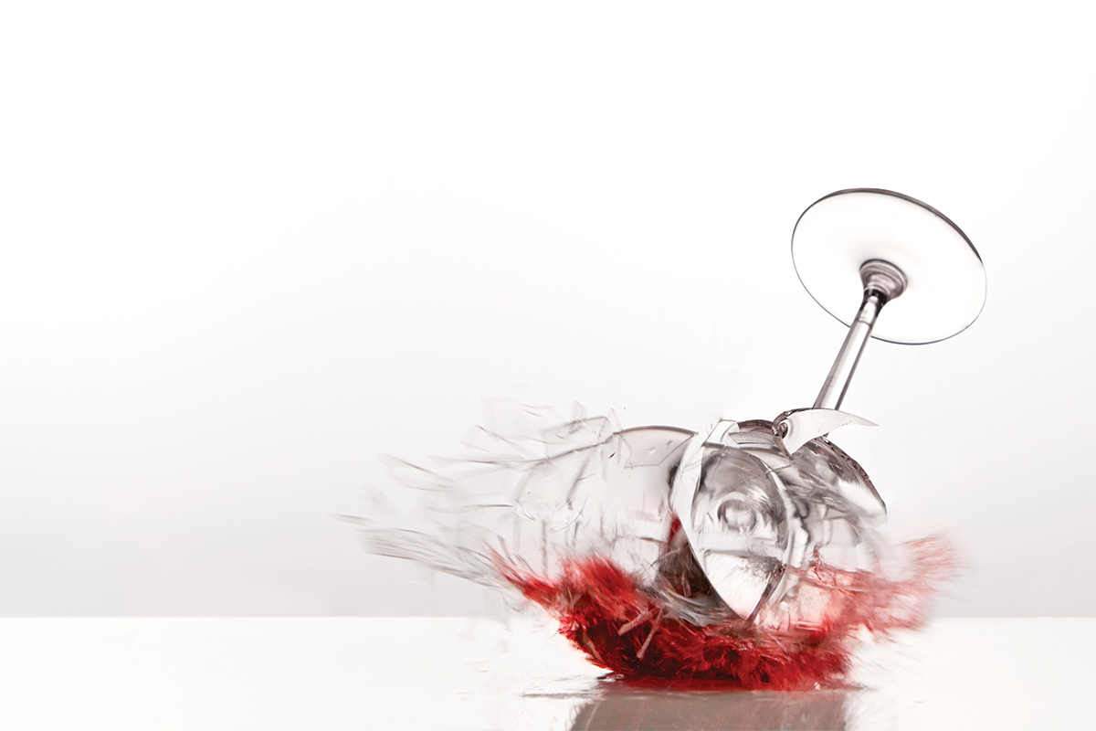 A glass is much easier to smashthan to unsmash
