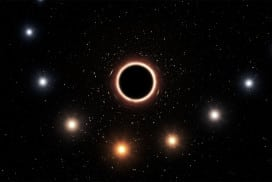 Astronomers caught a star turning red near a black hole (artist's impression)