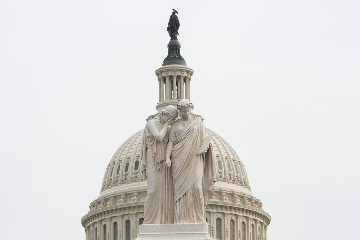 Two statues at US congress