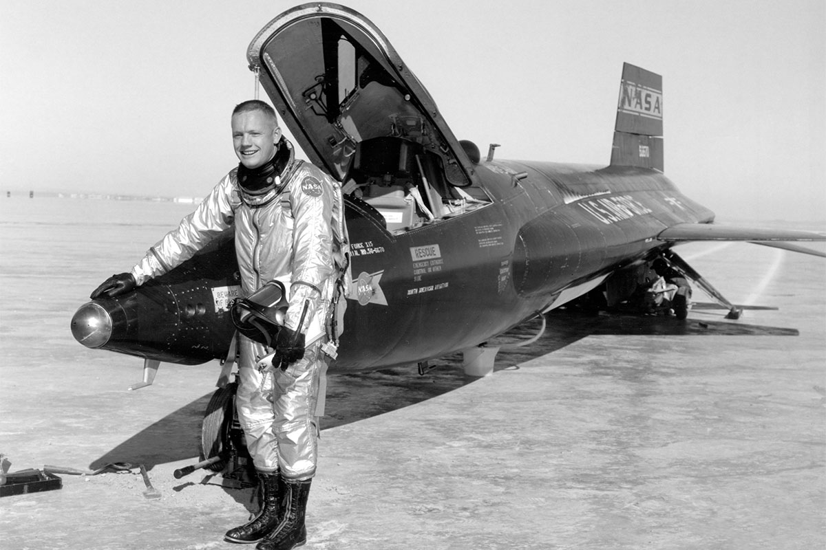 Neil Armstrong flew the X-15 rocket plane, but did he reach space?