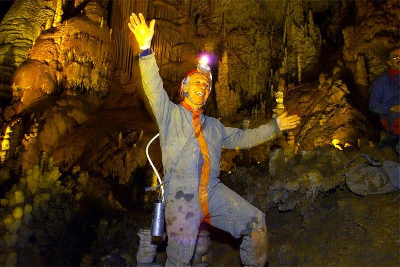 Michel Siffre in cave