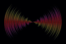 A sound wave