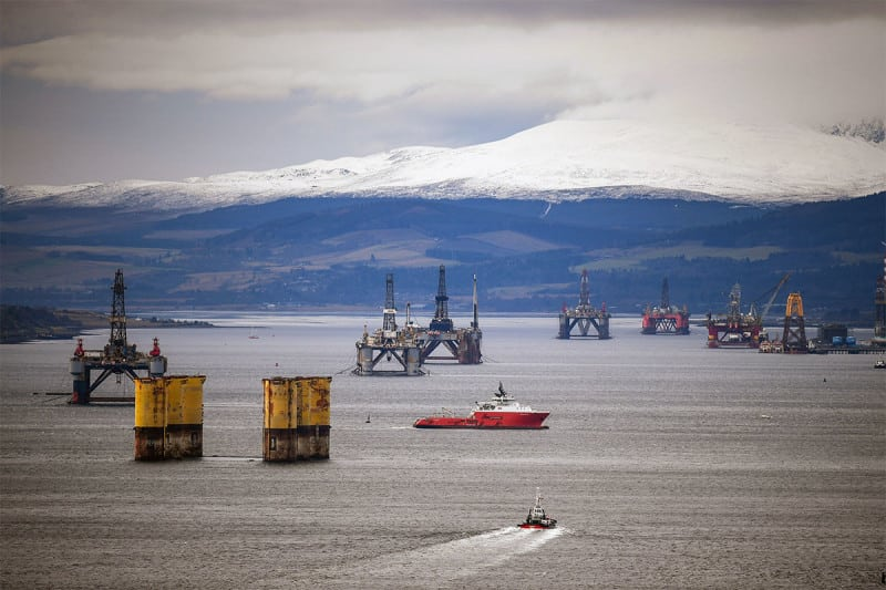 Old North Sea oil rigs in the Cromarty Firth awaiting decommission coudl also be havens for corals