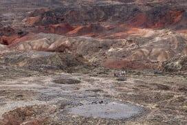 The cemetary was built around 5000 years ago near Lake Turkana