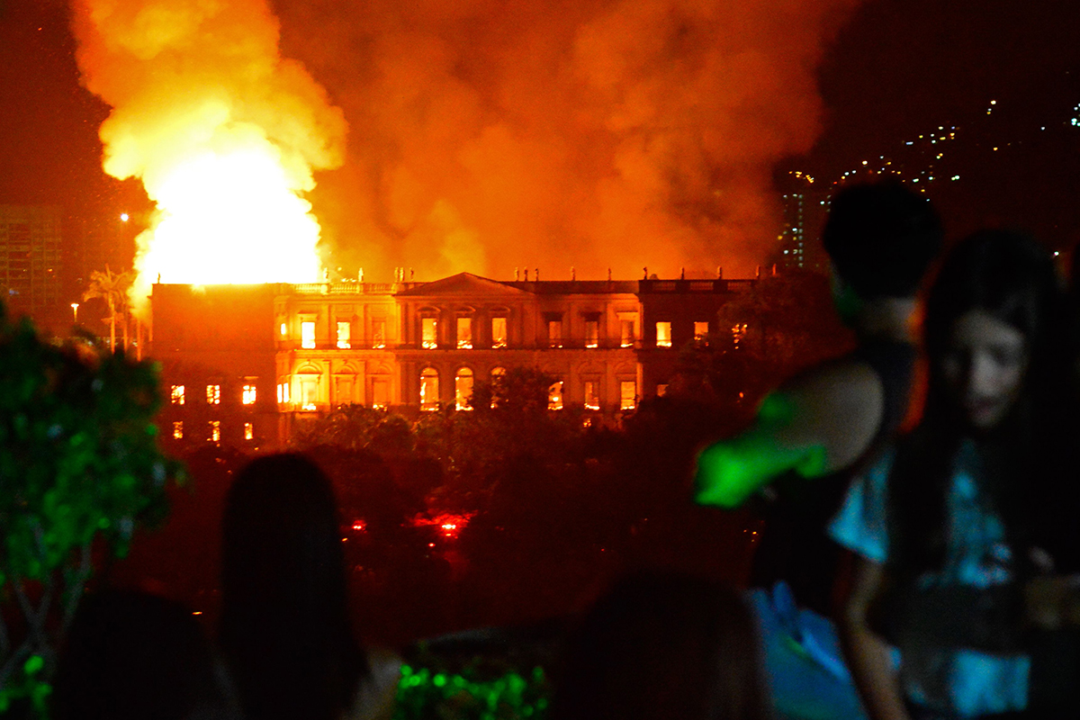 Brazil's National Museum on fire