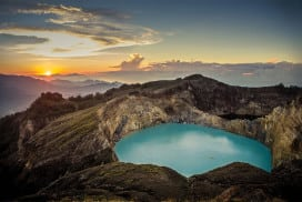 A volcano on Flores