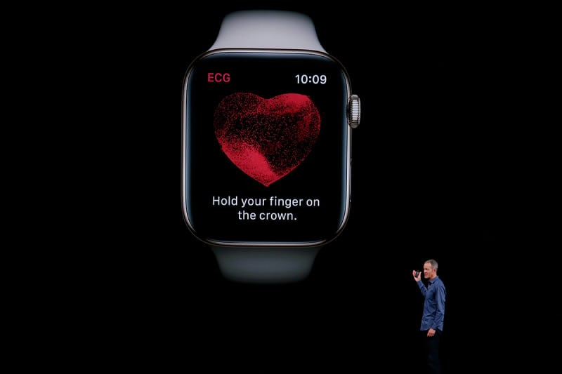 The fourth-generation Apple Watch